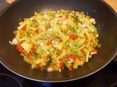 Lekker+snel+en+gezond.+De+spitskool+blijft+lekker+knapperig+en+smaakt+heerlijk+met+de+groene+paprika+en+het+roergebakken+gehakt.+Echt+een+aanrader.