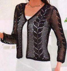 Ganchillo suéter: Crochet - ganchillo suéter del cordón para las señoras