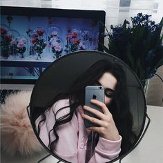 Tumblr, selfie, celular, espejo