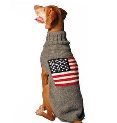 Chilly Dog American Flag Dog Sweater Large
