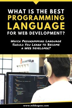 What programming language should you learn to start a web developer career? Find the best language for web development and start learning now. Learn Programming, Programming Languages, Computer Programming, Computer Science, Learn Computer Coding, Computer Lessons, Computer Tips, Coding Websites, Coding For Beginners