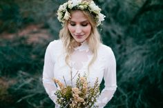 A floral headpiece for your wedding. Darling.