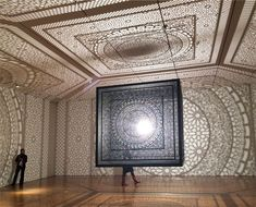 "artprize 2014 competition winner: ""intersections"" by anila quayyum agha  grand rapids art museum best use of a #lasercutter"