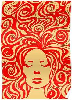 psychedelic' Poster by khuship - retro paintings 60s Art, Retro Art, Arte Pop, Arte Banksy, Posca Art, Arte Sketchbook, Tumblr Wallpaper, Retro Wallpaper, Screen Wallpaper