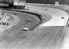 """Grand prix d'Italie - Monza 1955 """"le Banking et la Parabolica convergents sur 2 lignes droites parallèles"""" - F1 History & Legends."""