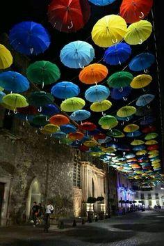 La Calle de las Sombrillas. Aguascalientes. Mexico