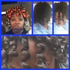 Corkscrew curls #flexirodset