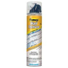 Provide a quick and easy solution for repairing damaged indoor walls with the help of this Homax Wall Orange Peel Quick Dry Oil-Based Spray Texture.