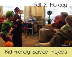 Fall & holiday kid-friendly service projects from Makeovers & Motherhood