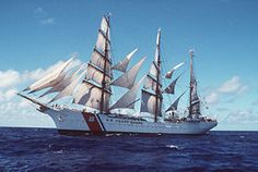 USCGC Eagle under sail. Career (Germany)	 Name: Segelschulschiff Horst Wessel, Namesake: Horst Wessel  Builder: Blohm & Voss, Laid down: 15 February 1936, Launched: 13 June 1936, Commissioned: 17 September 1936, Commissioned by US: 15 May 1946, Homeport: United States Coast Guard Academy (New London, Connecticut)