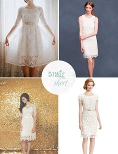 short wedding dresses under $100 Top Left...I WANT! Can I do like several outfit changes? ;)