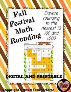 Rounding Corn Maze - FREEBIE Math Resources, Math Activities, Google Link, Elapsed Time, Adding And Subtracting, Third Grade Math, Free Math, Rounding
