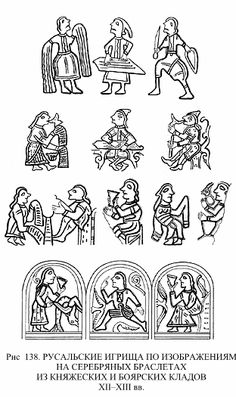 Русальские игрища по изображениям на серебряных браслетах из княжеских и боярских кладов.