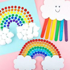 We think these rainbow kids' craft ideas are simply magical. 🌈 See all 10 crafts you can do with your kids from Link in bio. Animal Crafts For Kids, Paper Crafts For Kids, Craft Activities For Kids, Toddler Crafts, Preschool Crafts, Diy For Kids, Arts And Crafts, Craft Ideas, Kids Craft Supplies