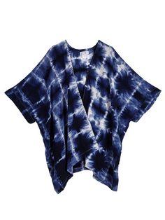 kimono- indigo grid - upstate