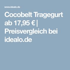 Cocobelt Tragegurt ab 17,95€ | Preisvergleich bei idealo.de
