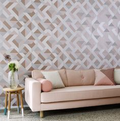 Designer Wallpaper suppliers, Today Interiors create luxurious collections for the contract and domestic markets - Take a look at our Designer Wallpaper Collections. Wallpaper Suppliers, Wall Finishes, Geometric Wallpaper, Geometric Designs, Designer Wallpaper, Luxury Living, Living Room Designs, Love Seat, Interior Design