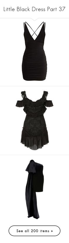 """""""Little Black Dress Part 37"""" by leanne-mcclean ❤ liked on Polyvore featuring dresses, short dresses, pretty little thing, vestidos, bodycon cocktail dresses, shirred dress, ruched dress, ruching dress, black and alice mccall dress"""