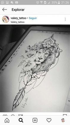 Lower Back Tattoos For Females – 6 Tattoo Designs That Look Good on the Lower . - Lower Back Tattoos For Females – 6 Tattoo Designs That Look Good on the Lower Back, - Back Tattoos For Guys, Back Tattoo Women, Tattoo Girls, Lower Back Tattoos, Girl Tattoos, Lion Back Tattoo, Lion Thigh Tattoo, Mandala Lion Tattoo, Lion And Lioness Tattoo