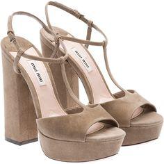 Miu Miu Sandals ($720) ❤ liked on Polyvore