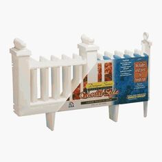"""Deluxe Colonial Resin Fence Color: White by EMSCO Group. $39.85. 2095DS Color: White Features: -Fence.-Material: Durable resin.-Elegant detail.-Low maintenance-never needs to be painted.-Visual separation without blocked view or heavy barrier.-Exclusive connector system makes fencing great for sweeping curves, corners and straight runs. Construction: -Engineered construction will not rust. Dimensions: -Dimensions: 15.75"""" H x 25.25"""" W x 6"""" D.. Save 26% Off!"""