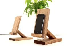 iPad soporte iPad soporte de Mini iPad Dock soporte por WoodWarmth