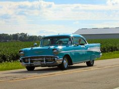 57 Chevy..love the ride..love the color...love the time in my life that I drove one of these...