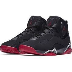 best sneakers 4cfe1 cbc8f Nike Air Jordan True Flight Black Gym Red Metallic Silver  fashion   clothing  shoes  accessories  mensshoes  athleticshoes (ebay link)