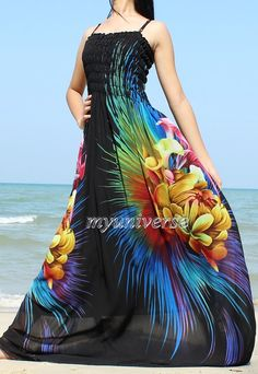 Black Maxi Dress Bridesmaid Dress Prom Summer Sundress Floral Evening Dress Formal Gowns by myuniverse. Explore more products on http://myuniverse.etsy.com