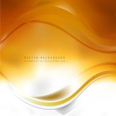 Abstract White Orange Wave Design Background #freevectors