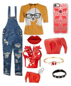 """""""Animal Lovers"""" by danedria on Polyvore featuring Loewe, Casetify, Sevil Designs, RED Valentino, Abercrombie & Fitch and Giuseppe Zanotti"""