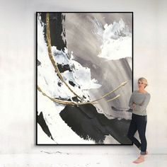 Abstract Canvas Art, Canvas Wall Art, Wall Art Prints, Abstract Painting Modern, Black And White Abstract, White Art, White Gold, Mural Painting, Acrylic Paintings