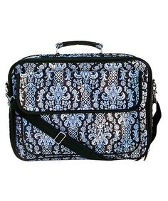 Love this Black & White Damask Giles Computer Bag by Two Lumps of Sugar on #zulily! #zulilyfinds, $25 !!