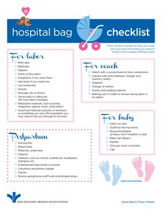 Hospital Bag Checklist for New #Moms - the best items to have with you for the #birth of your #baby