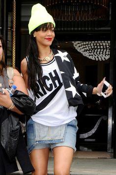 Rihanna Wears Overalls in London