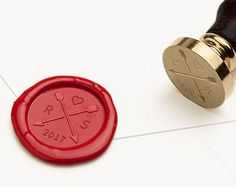 Wax Seal Stamp… Perfect for adding a unique personal touch to letters, envelopes, gift wrapping, wedding invitations and favors. They also make very thoughtful gifts!  . . . . . . . . . . . . . . . . . . . . . . . . . . . . . . . . . . . . . . . . . . . . . . . . . . . . . . . . . . . S I Z E  • 1.18 inches (30mm)   S P E C S • Dark rosewood handle • Every stamp comes with 3 FREE wax sticks! Choose your color from the dropdown options. (Each wax stick makes approx 7 wax seals) • Our wax…