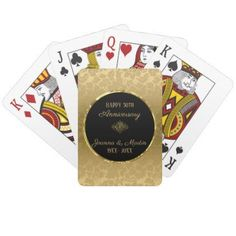 Gold Gradient Damask- Anniversary Playing Cards - home gifts ideas decor special unique custom individual customized individualized Customized Gifts, Personalized Gifts, Golden Anniversary Gifts, Gold Gradient, Unique Birthday Gifts, Gold Gifts, Diy Cards, Damask, Playing Cards