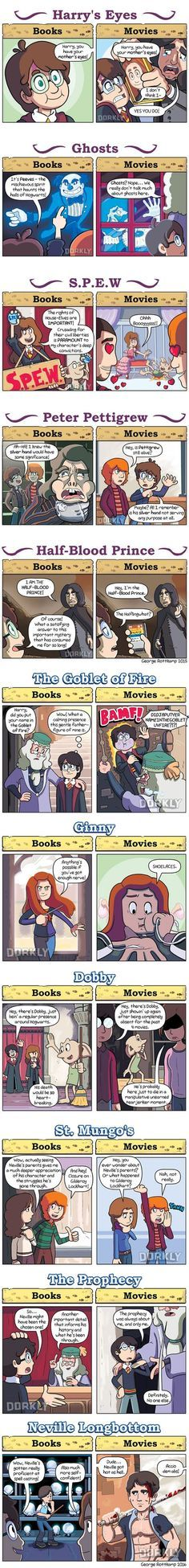 11 Ways Harry Potter Movies Are Different From the Books:xD no but they did leave out so many good parts im so pissed