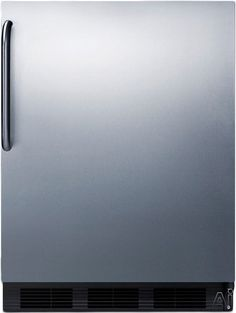 Summit AL752BSSTB 5.5 cu. ft. Compact All-Refrigerator with Adjustable Glass Shelves, Automatic Defrost, Interior Light and ADA Compliant: Stainless Door with Pro Handle