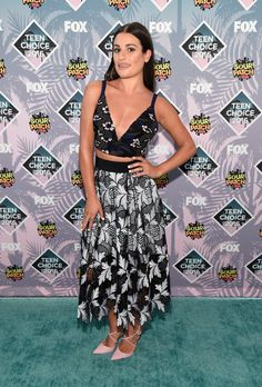 Lea Michele in Self-Portrait bei den Teen Choice Awards