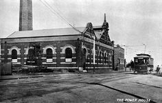 The Power House and U class tram, Mt Alexander Road, Ascot Vale, 1900s