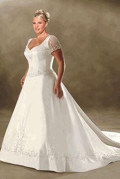 Plus Size Wedding Dresses 001
