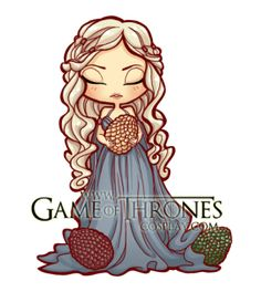 Daenerys Targaryen de la saga Juego de Tronos... chibi :)