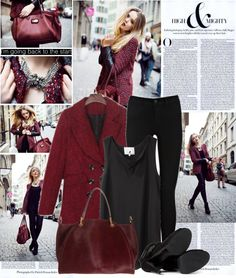 """""""wine coat"""" by shinystar on Polyvore"""