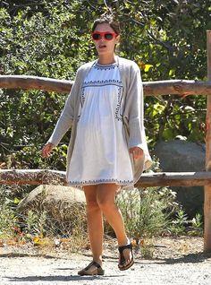 rachel bilson embarazada minivestido Rachel Bilson, Cold Shoulder Dress, Shirt Dress, Shirts, Dresses, Fashion, Pregnancy, Style, Vestidos