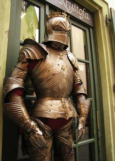 The Knight Christopher Gallery (U rytíře Kryštofa), Kozna 8, Prague 1  Prague, Czech Republic. #Armor #Armour