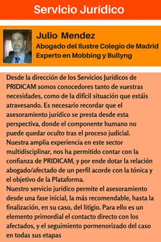 PRIDICAM www.MobbingMadrid.org : Servicio Jurídico