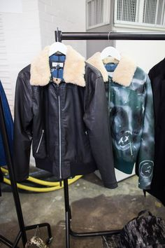 One Italian leather jacket for two different types of man: on the left, a classic, beautifully soft black iteration that's never going to go out of style; and on the right, a spray-painted, hand-finished green leather version for guys who want to stand out. The choice is up to you. soulland.com