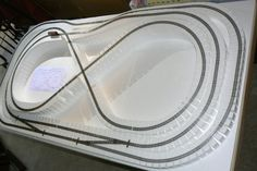 foam train layout - Google Search