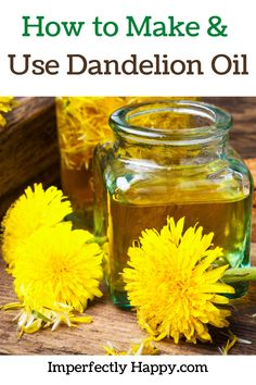 How to make and use dandelion oil at home. Dandelion oil is a natural product used in many ways. Those who prefer natural products often choose to use dandelion oil for pain relief, skin care, and more. Natural Health Remedies, Herbal Remedies, Home Remedies, Raising Backyard Chickens, Backyard Farming, Dandelion Oil, Herbs For Health, Grow Your Own Food, Medicinal Herbs
